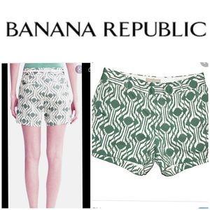 BANANA REPUBLIC monogram ikat shorts